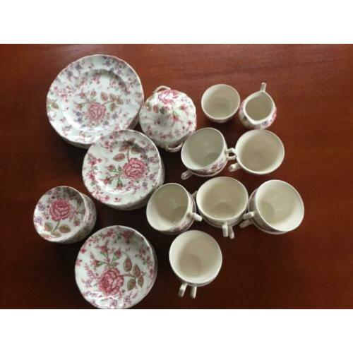 Johnson Brothers Servies ROSE CHINTZ ANTIEK